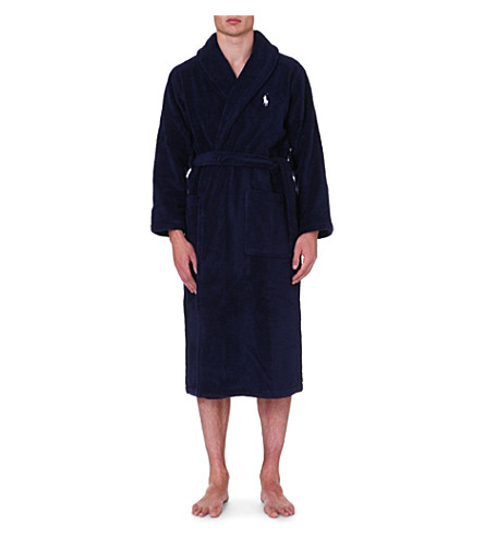 POLO RALPH LAUREN Terry towelling dressing gown (Navy
