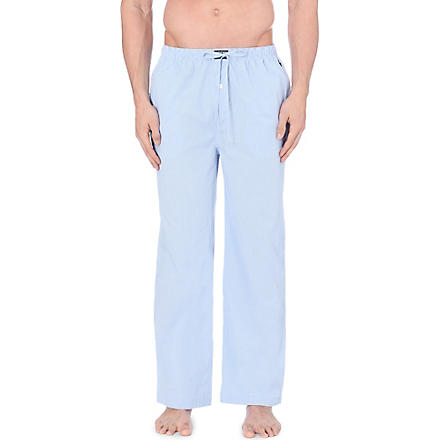RALPH LAUREN Gingham pyjama bottoms (Light+blue