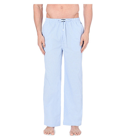 POLO RALPH LAUREN Gingham pyjama bottoms (Light+blue