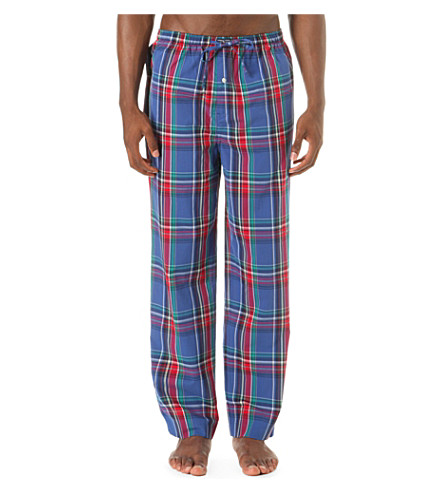 POLO RALPH LAUREN James checked cotton pyjama bottoms (Brighton+plaid
