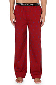 RALPH LAUREN Cotton logo pyjama trousers