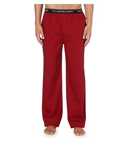 RALPH LAUREN Cotton logo pyjama trousers (Red