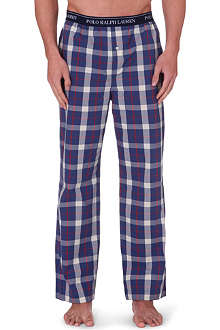 RALPH LAUREN Checked cotton pyjama trousers