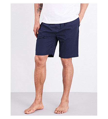 POLO RALPH LAUREN Polka dot cotton shorts (Navy