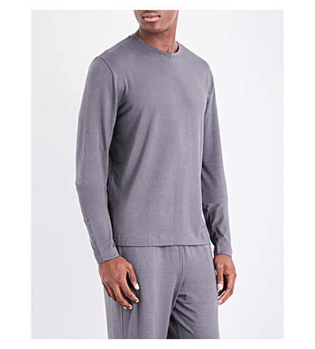POLO RALPH LAUREN Stretch-jersey pyjama top (Grey