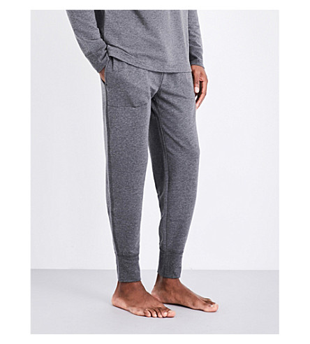 POLO RALPH LAUREN Stretch-jersey jogging bottoms (Grey+marl