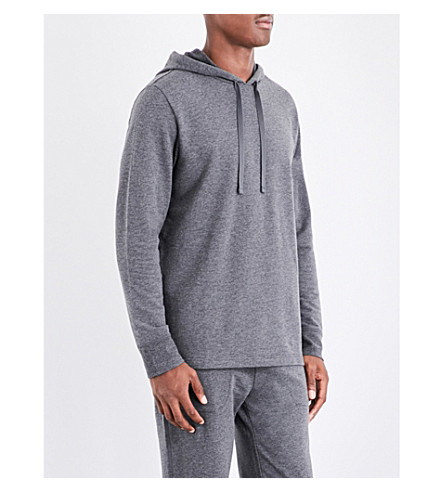POLO RALPH LAUREN Stretch-jersey pyjama hoody (Grey+marl