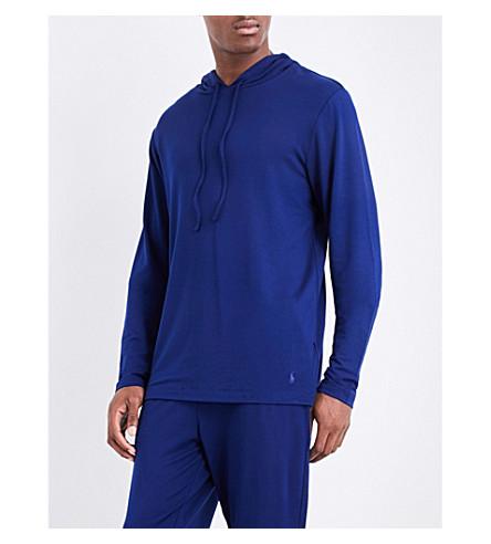 POLO RALPH LAUREN Stretch-jersey pyjama hoody (Midnight