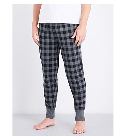POLO RALPH LAUREN Check-print brushed cotton pyjama bottoms (Grey