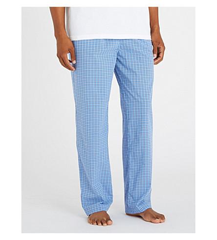POLO RALPH LAUREN Checked cotton pyjama bottoms (Blue+white