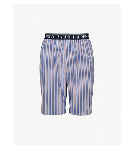 POLO RALPH LAUREN Checked cotton pyjama shorts (Blue+red