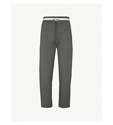 POLO RALPH LAUREN Logo-embroidered cotton pyjama bottoms (Grey
