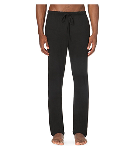 POLO RALPH LAUREN Modal luxury pyjama trousers (Black
