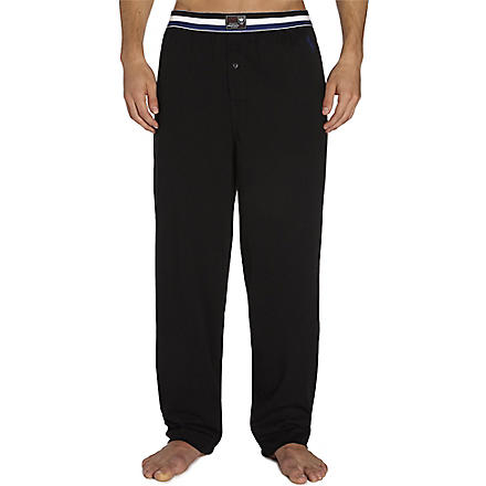 RALPH LAUREN Athletic classic pyjama trousers (Black