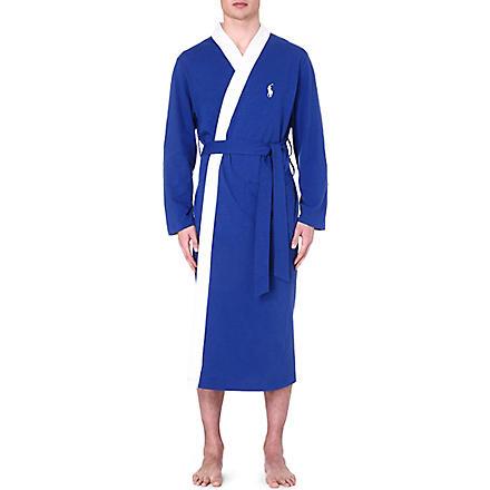 RALPH LAUREN Retro kimono robe (Blue