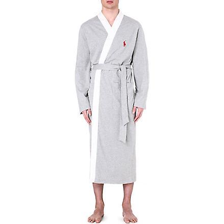RALPH LAUREN Retro kimono robe (Grey