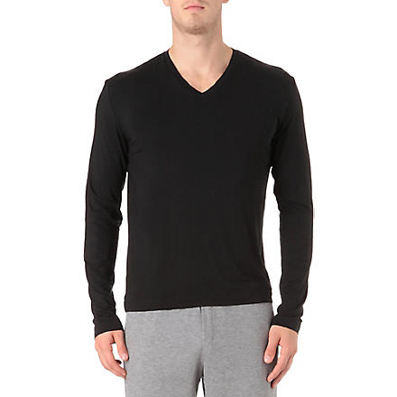 RALPH LAUREN Luxury modal top (Black