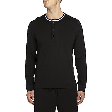 RALPH LAUREN Classic long-sleeved Henley top (Black