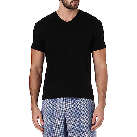 RALPH LAUREN Luxury modal t-shirt (Black