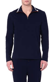RALPH LAUREN Contrast-trim lounge top