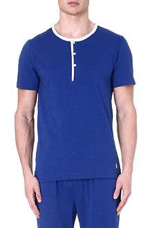 RALPH LAUREN Retro Henley pyjama top