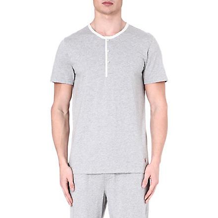 RALPH LAUREN Retro Henley pyjama top (Grey