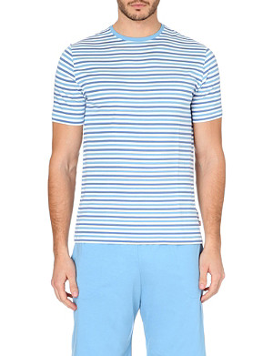 DEREK ROSE Dylan striped jersey t-shirt
