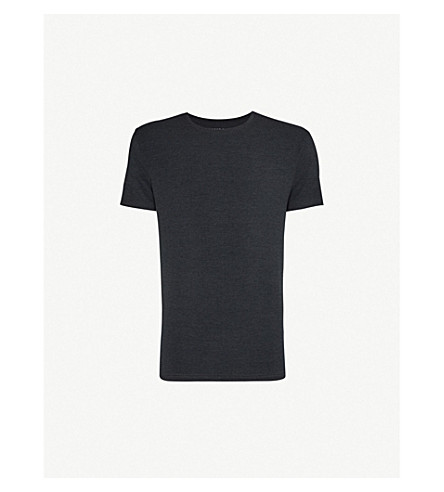 DEREK ROSE Marlowe crew-neck t-shirt (Anthracite