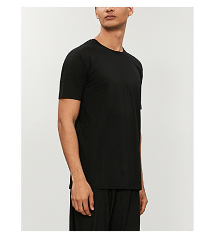 DEREK ROSE Basel stretch-jersey t-shirt (Black