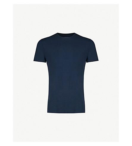 DEREK ROSE Basel stretch-jersey t-shirt (Blue