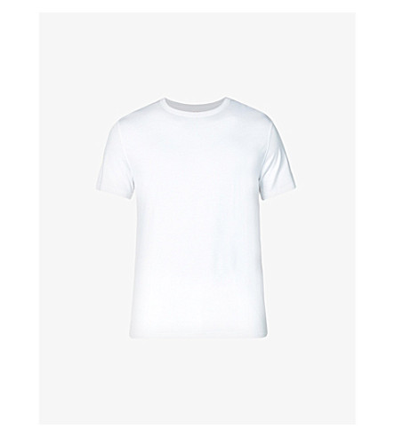 DEREK ROSE Basel stretch-jersey t-shirt (White