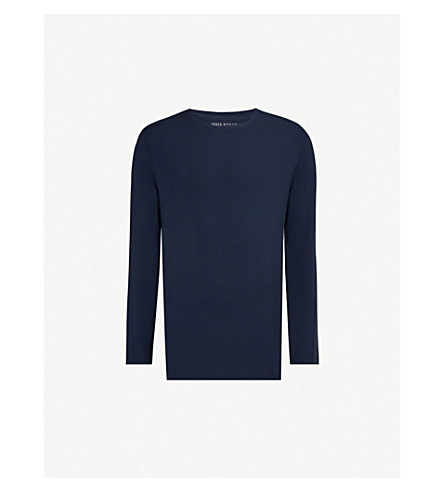 DEREK ROSE Basel micromodal top (Blue