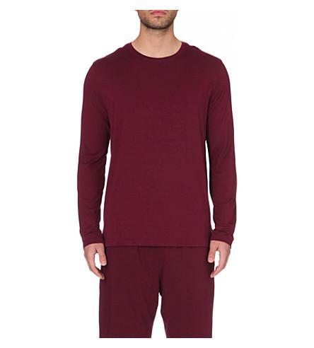 DEREK ROSE Basel crewneck jersey sweatshirt (Bordeaux