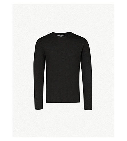 DEREK ROSE Basel long-sleeved t-shirt (Black