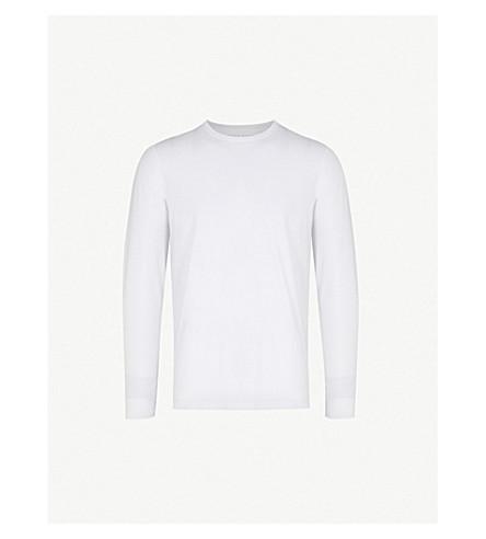 DEREK ROSE Basel long-sleeved t-shirt (White