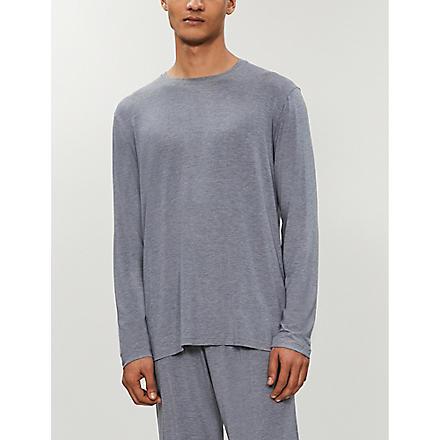 DEREK ROSE Marlowe jersey top (Charcoal