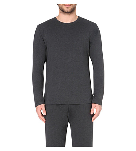 DEREK ROSE Marlowe long-sleeved t-shirt (Anthracite