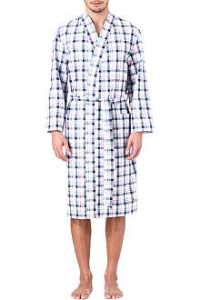 NATURALLY Port check dressing gown