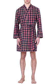 DEREK ROSE Ranga checked dressing gown
