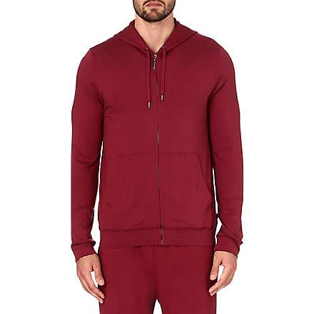 DEREK ROSE Basel jersey hoody (Burgundy