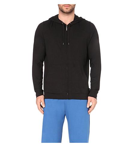 DEREK ROSE Basel jersey hoody (Black