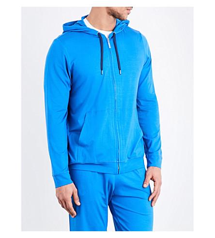 DEREK ROSE Basel jersey hoody (Blue