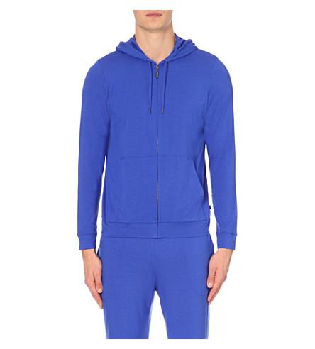 DEREK ROSE Basel jersey hoody (Cobalt