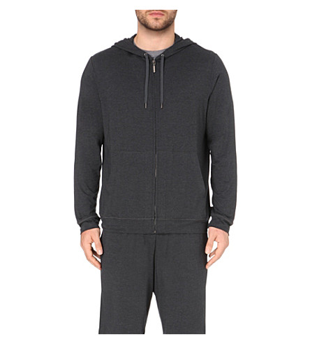 DEREK ROSE Stretch-jersey hoody (Anthracite