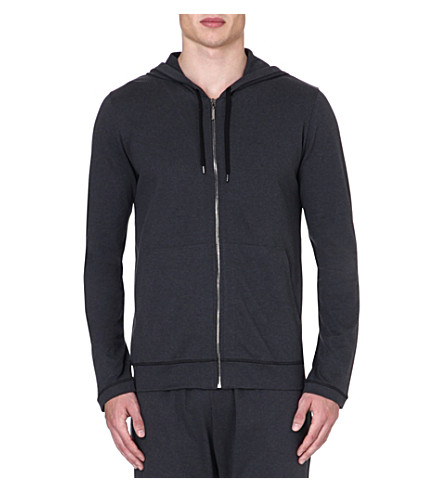 DEREK ROSE Barny leisure zip hoody (Anthracite
