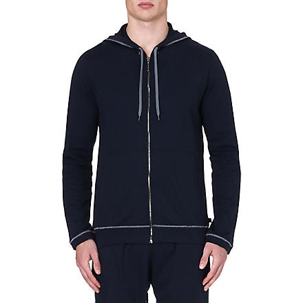 DEREK ROSE Barny leisure zip hoody (Navy