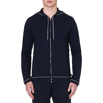 DEREK ROSE Barny leisure zip hoody (Navy