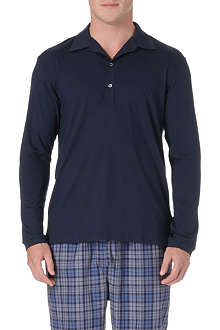 NATURALLY Basel long-sleeved polo shirt