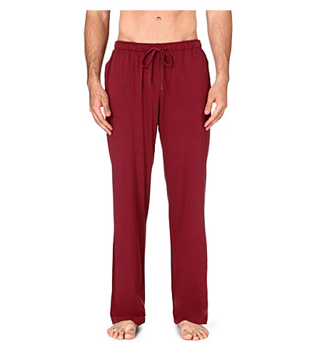 DEREK ROSE Basel jersey trousers (Burgundy