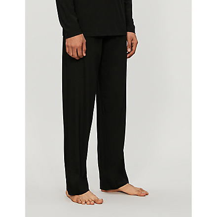 DEREK ROSE Basel casual trousers (Black